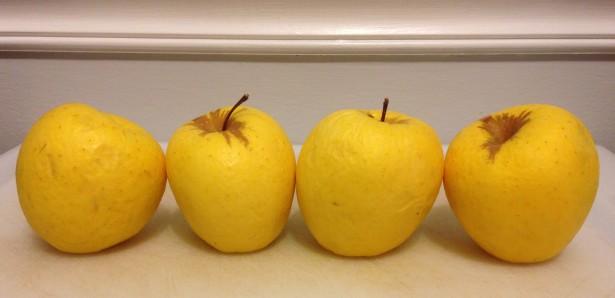 Wrinkly apples